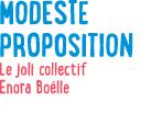 Modeste Proposition - septembre 2013