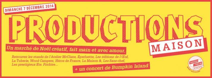 PRODUCTIONS MAISON #5 - décembre 2014 @ Théâtre de Poche - Hédé-Bazouges