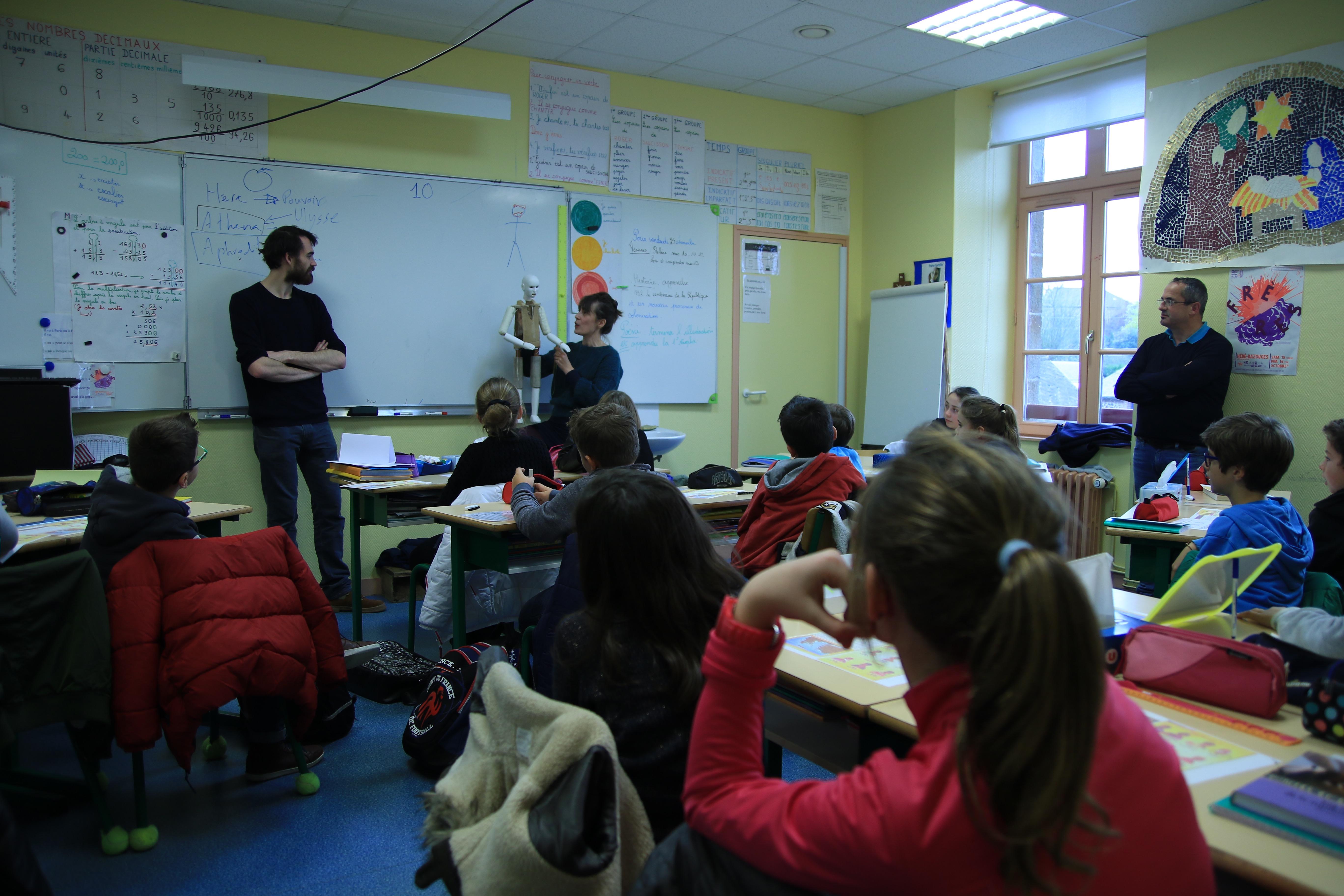 Classe à PAC à l'école Abbé Pierre de Hédé - Fanny Fezans et Carol Cadilhac