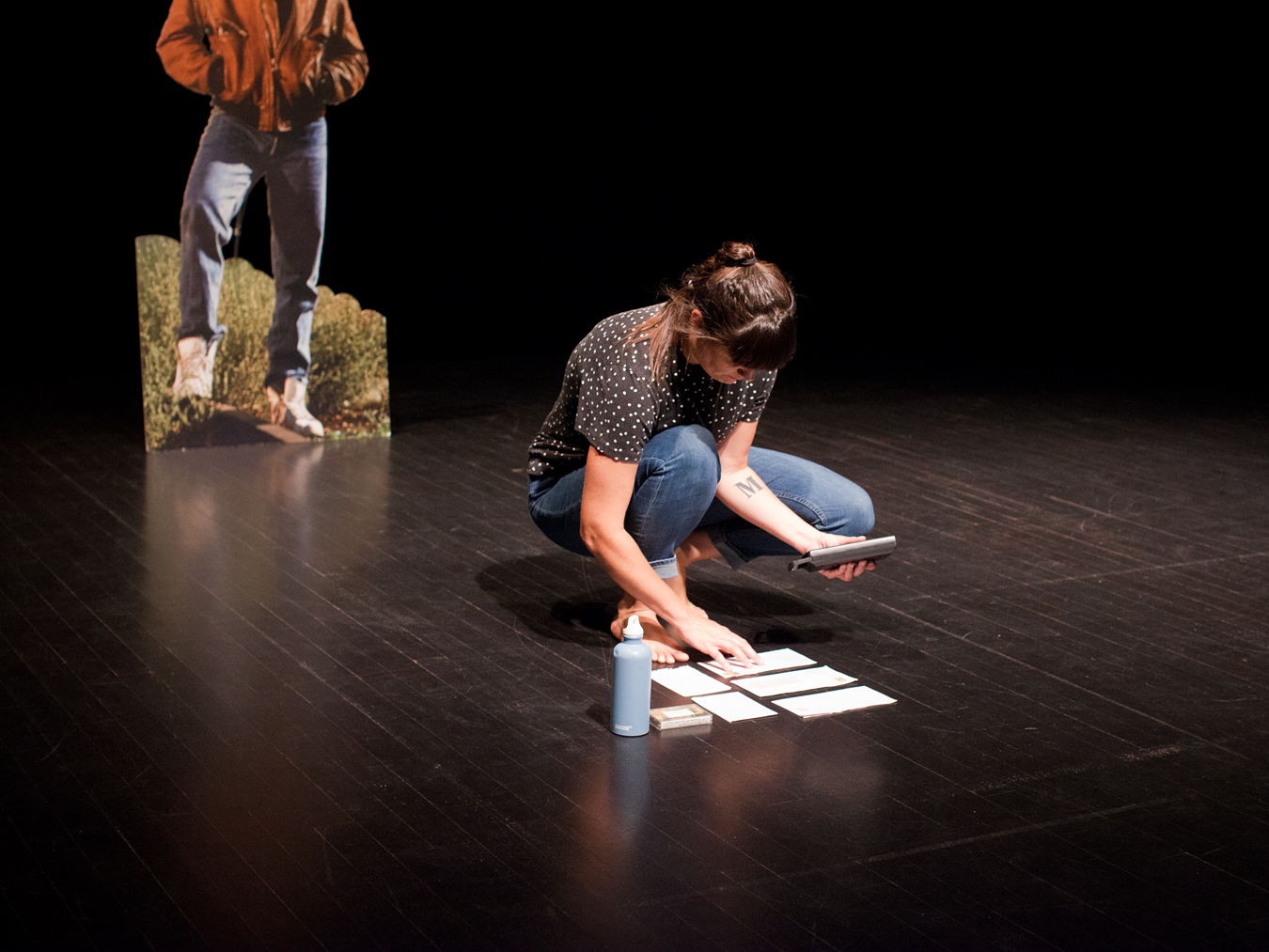 DImanche 25 août, Enora Boëlle (membre du Joli Collectif) lors de son spectacle